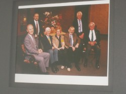 Susan Griffin with six Nobel Laureates who were invited to Kentucky as part of the Intel ISEF in 1997.